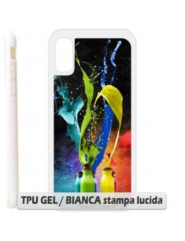 Cover per Samsung Galaxy S4 S 4 S IV i9500 i9505 TPU GEL / BIANCA sb