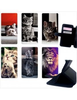 Custodia cover foderino LIBRO portafoglio per tutti Cellulari Samsung 1 FA1