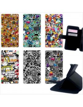 Custodia cover foderino LIBRO portafoglio per tutti Cellulari Samsung 1 FA7