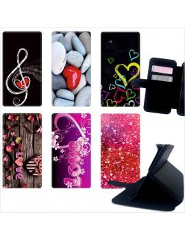 Custodia cover foderino LIBRO portafoglio per tutti Cellulari Huawei 1 FA11