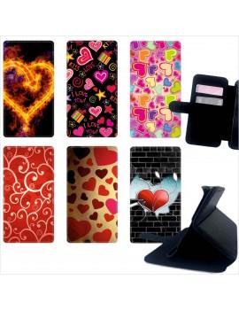 Custodia cover foderino LIBRO portafoglio per tutti Cellulari Huawei 1 FA12
