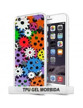 Cover per Wiko Pulp 4g - TPU GEL / bordo trasparente