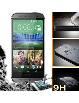 Pellicola vetro temperato proteggi schermo 9H per HTC One M8 mini 2
