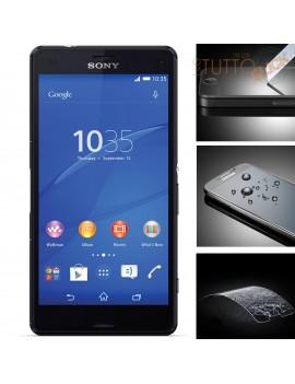 Pellicola vetro temperato proteggi schermo per Sony Xperia Z3 mini Compact D5803 M55w