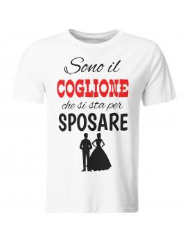 Maglia magliette tshirt Coglione addio celibato sposo amici matrimonio GR502
