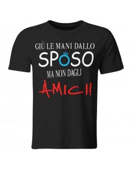 Maglia maglietta tshirt divertente addio celibato sposo amici matrimonio GR513