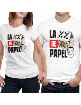 T-shirt manica corta la casa poker
