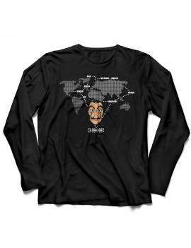 T-shirt manica lunga mappa Dali