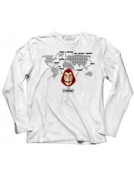 T-shirt manica lunga Mappa Dalì serie 3