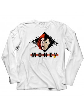 T-shirt manica lunga Dalì money