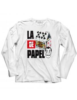 T-shirt manica lunga La casa poker