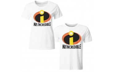 Coppia di magliette t shirt MRs MR Incredible idea regalo san valentino GR372
