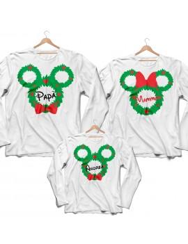 Tris T-shirt manica lunga Natale Ghirlanda