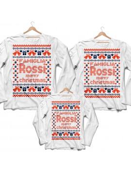 Tris T-shirt manica lunga Natale Merry Christmas