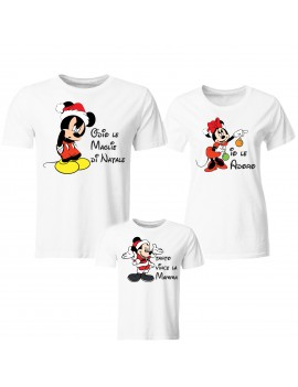 Tris T-shirt manica corta Natale Merry Christmas Topolino