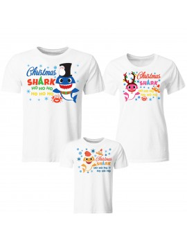 Tris T-shirt manica corta Christmas Shark