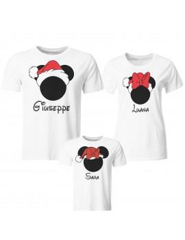 Tris T-shirt manica corta cappello babbo Natale