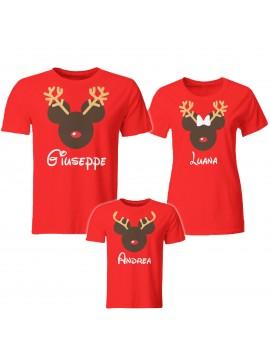 Tris T-shirt manica corta Natale renna