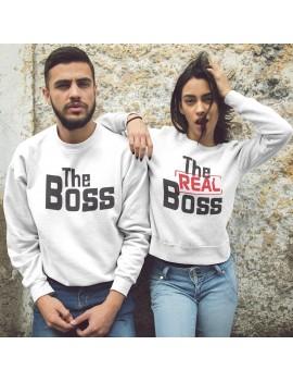 Coppia di Felpe girocollo The Boss The Real Boss