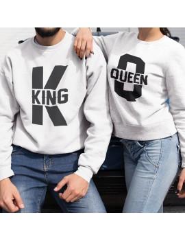 Coppia di Felpe girocollo King Queen