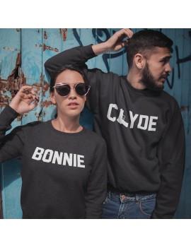 Coppia di Felpe girocollo Bonnie and Clyde San Valentino