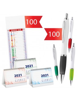 100 Calendari ( Silhouette o scrivania ) + 100 Penne Juke...