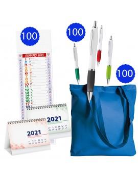 100 calendari  + 100 shopper  + 100 penne Promo 7