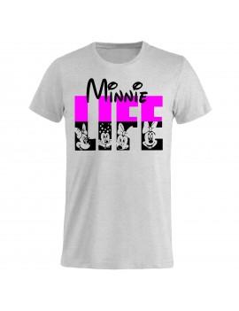 T-shirt Uomo donna bambino - Topolina Minnie life GR266 -...