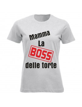 T-shirt Maglietta festa della Mamma - Mamma boss delle...