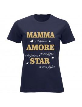 T-shirt Maglietta festa della Mamma - Mamma-Amore-Star...