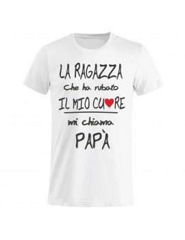 T-shirt Maglietta festa del Papà - Mi chiama papà GR75 -...