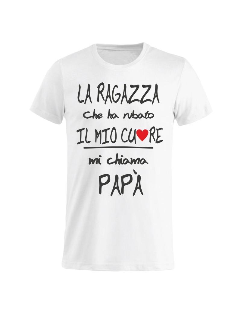 T shirt Maglietta festa del Papà Mi chiama papà GR75 idea regalo compleanno onomastico