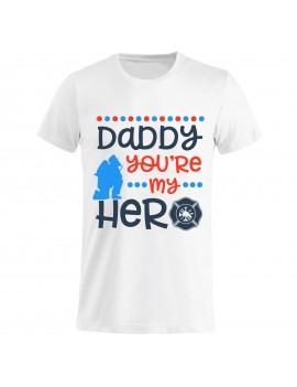 T-shirt Maglietta festa del Papà - Hero Daddy GR118 -...