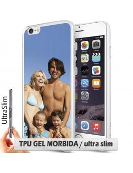 Cover per Huawei Ascend y550  - TPU gel ULTRA SLIM/bordo trasparente