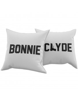 Set Coppia 2 Cuscini Cuscino BONNIE CLYDE idea regalo san valentino amore GR378