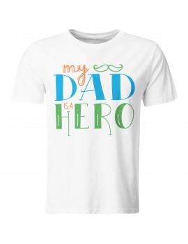 Maglia maglietta t shirt festa del Papà Padre idea regalo IL MIO EROE GR409