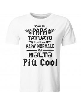 Maglia maglietta t shirt festa del Papà idea regalo TATUATO NORMALE FICO GR412