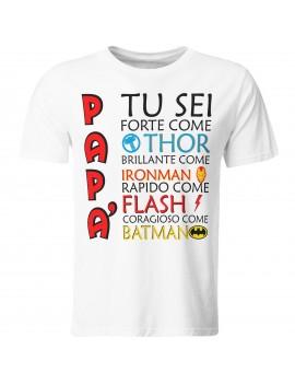 Maglia maglietta t shirt festa del Papà padre idea regalo SUPEREROE MARVEL GR416