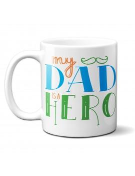 TAZZA in ceramica per festa del papà padre idea regalo marito IL MIO EROE GR409