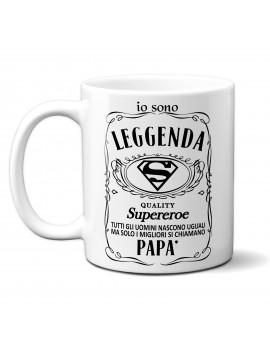 TAZZA in ceramica per festa del papà idea regalo SUPEREROE JACK BRAND GR410