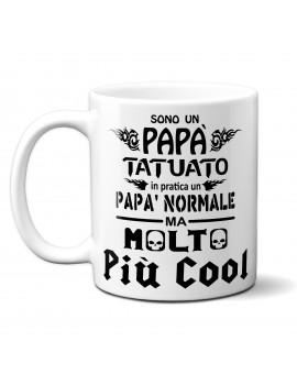 TAZZA in ceramica per festa del papà idea regalo TATUATO NORMALE COOL FICO GR412
