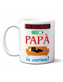 TAZZA in ceramica per festa del papà padre idea regalo NON DISTURBARE GR415