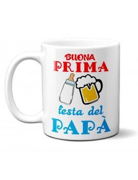 TAZZA in ceramica per festa del papà padre regalo BUONA PRIMA FESTA BIRRA GR420