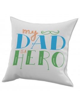 Cuscino in cotone per festa del Papà idea regalo marito IL MIO EROE GR409
