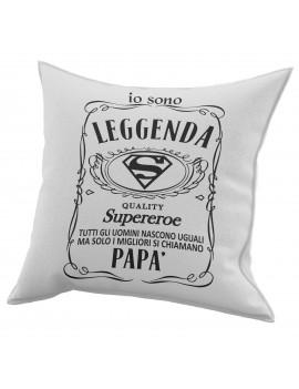 Cuscino in cotone per festa del Papà regalo SUPEREROE BRAND JACK GR410