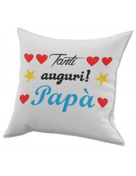 Cuscino in cotone per festa del Papà idea regalo marito TANTI AUGURI GR417