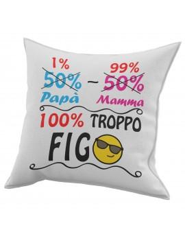 Cuscino in cotone per festa del Papà regalo marito TROPPO FIGO EMOTICON GR418