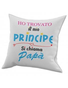 Cuscino in cotone per festa del Papà idea regalo marito IL MIO PRINCIPE GR427