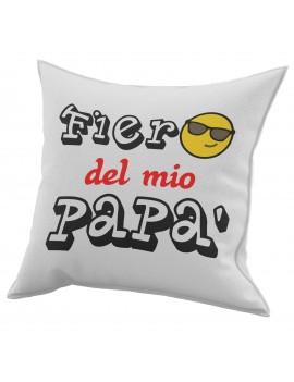 Cuscino in cotone per festa del Papà idea regalo marito FIERO DI MIO PADRE GR428
