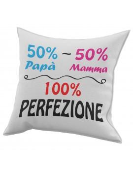 Cuscino in cotone per festa del Papà idea regalo mamma marito PERFEZIONE GR430